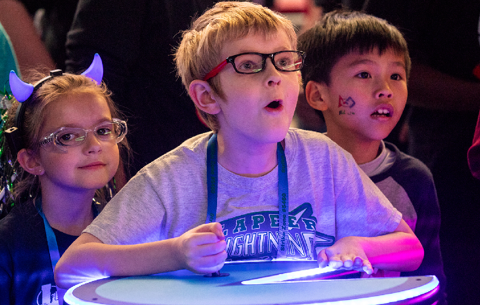 FIRST LEGO League Jr. student having fun at Championship